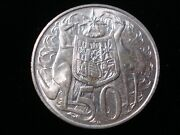 Australian 1966 Round 50 Cents Silver Coin Double Bar Variety Jr Lot 2