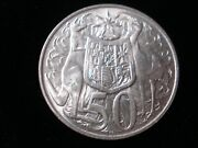 Australian 1966 Round 50 Cents Silver Coin Double Bar Variety Jr Lot 5