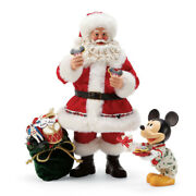 Disney Possible Dreams By Dept 56 - Milk And Cookies For Santa From Mickey Set Of