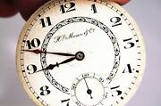 Antique Rare H Moser And Co Pocket Watch 23 Jewels Movement