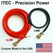Battery Relocation Kit 2 Awg Cable Top Post 16 Ft Red / 4ft Blackusa Made