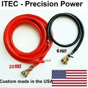 Battery Relocation Kit 2 Awg Cable Top Post 20 Ft Red / 6 Ft Blackusa Made
