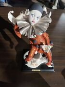 Guiseppe Armani Little Pierrot With Daisies 1991 With Box