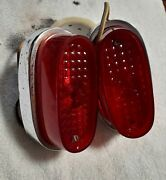 1958_1959 Rambler Tail Lights Assembly Housing Pair Genuine Used 1