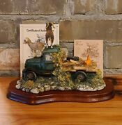 Lowell Davis King Of The Mountain Figurine Goats Truck Schmid 225-380 Boxed
