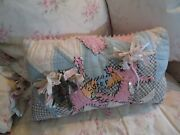 Shabby Vintage Cottage Style Sister Hand Made 1940s Boudoir Pillow