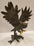 Bronze Great Horned Owl Sculpture By George Mcmonigle For The Franklin Mint