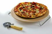Ceramic Pizza Stone 13 Inch For Oven Grill Or Bbq With Thermal Shock Resistance