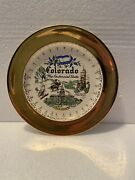 Vtg Colorado Centennial State Plate Lots Of Gold 7.5andrdquo Full Color Souvenir