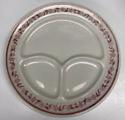 Set Of 12 Buffalo China Kenmore Red Restaurant Diner Ware 9 Dinner Plates Nice