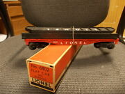 Lionel 6802 Flat W Girders/original Band And Box  New