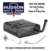 1949 Hudson New Complete Fuel / Gas Tank Package - New Tank, Sending Unit, Tube