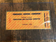 Vtg 1968 Democratic National Convention Resolutions And Platform Committee Ticket