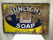 Sunlight Soap Pictorial Sign Board Porcelain Enamel Advertising Collectibles 5