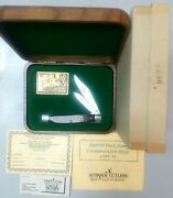Schrade Usa Vintage 1994/95 Federal Duck Stamp Limited Edition Knife In Wood Box
