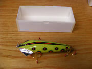 Beautiful Contemporary C Hines Heddon Style 1600 Wiggler In Green Apple Spots
