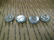 Lot Of 4 Vintage Jacobsen Tractor Mower Chrome Caps With J