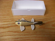 C Hines Heddon Style Fish Decoy Leather Fins In Ivory Bronze Scales Color