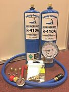 R410 R410a Refrigerant Recharge Kit Pocket Therm. Cores And Cap A/c System