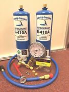Computer Cooling A/c Recharge Kit R410a 28 Oz. W/check And Charge-it Gauge Kit
