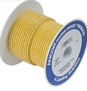 Ancor Yellow 1/0 Awg Tinned Copper Battery Cable 25and039 Marine Grade