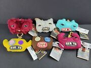Fuggler Funny Ugly Monster Clip-on Backpack Key Chain Plush Toy Lot Of 6 - New