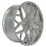 4 Gwg Mizu 22 Inch Chrome Rims Fits Land Rover Discovery 4.6 S 2003 - 2004