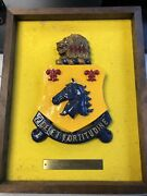 Vintage Military Fidelity And Fortitude Hanging Plaque 16x20 Ceramic