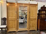 English Aesthetic Movement Carved Ash Wardrobe Attr. Lamb Of Manchester 19th C