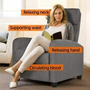 Puch Back Recliner Adjustable Fabric Uholstery Pocket Spring Thick Foam Gray