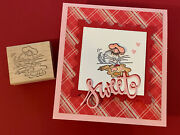 Fluffles Baking Cookies For Valentines Day - Rubber Stamp Rare