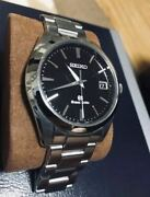 Grand Seiko Sbgv023 Black Dial Box And Papers Quartz Stainless Steel