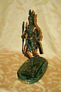 Frederic Remington Indian Dancer 20 Tall Bronze Sculpture On Marble Base