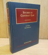 Studies In Contract Law University Casebook Series Free Priority Shipping