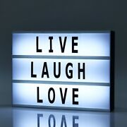 Cool White 9x12 Led Lightbox Marquee Signs Light Up Letter Board Decorations