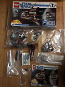 Lego Star Wars The Clone Wars Count Dookuand039s Solar Sailer 7752. Incomplete.