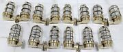 Mid Century Wall Sconce Light Fixture Solid Nautical Vintage Style Brass 14 Pcs