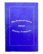 By-laws Of The Federal Union Mining Company Clear Creek County Colorado 1st Ed
