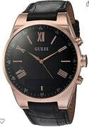 New Guess Connect Smartwatch Black Watch W/ Rose Gold C0002mb3