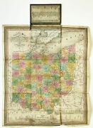 James H / Samuel Augustus / Touristand039s Pocket Map Of The State Of Ohio 1st 1834