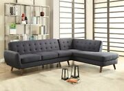 Contemporary Living Room Furniture Right Facing Chaise Sectional Sofa Upholster