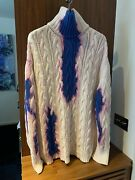 Balenciaga Oversize Bleached Cotton Knit Sweater Size M Rrp Andpound1195.00