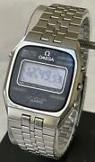 Omega Speedmaster Quartz Vintage Watch Tv Lcd Screen Need Some Work 70andrsquos