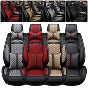 Luxury Auto Decor 5-sits Car Seat Cover Front Rear Cushion Suv Universal Set Us