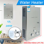 12l Portable Lpg Propane Gas Hot Water Heater Tankless Instant Camping Outdoor