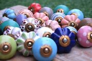 Wholesale Lot Mix-ceramic Drawer Cupboards Pull Handle Kitchen Vintage-knobs