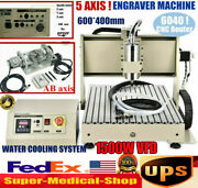 1500w Usb 5 Axis 6040 Cnc Router Engraving Machine Wood Metal Milling 3d Cutter