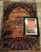 Allman Brothers Final Beacon Shows Poster Comes Framed And Matching Blanket Rare
