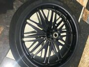 Roland Sands Design Boss Black Ops Front 3.5x21 And Rear 5.5x16 Wheels/tires.