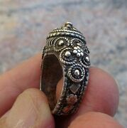 Antique Silver Filigree Ring From Yemen- One Of The Finest I've Seen- Size 5